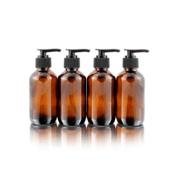 Amber bottles liquid
